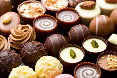 Papiers peints Variété pralines au chocolat