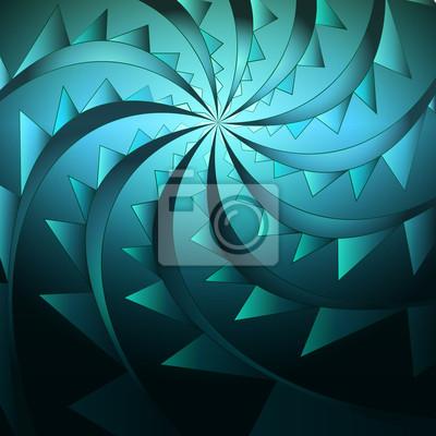 vecteur abstraite symétrique de tourbillon bleu épineuse de forme