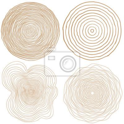 vecteur anneaux des arbres fond et découpe à la scie un tronc d'arbre