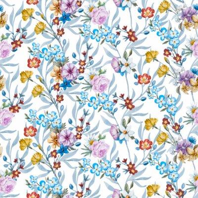 Papiers peints Vecteur, aquarelle, floral, modèle