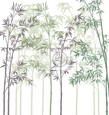vecteur de fond avec la forêt de bambou