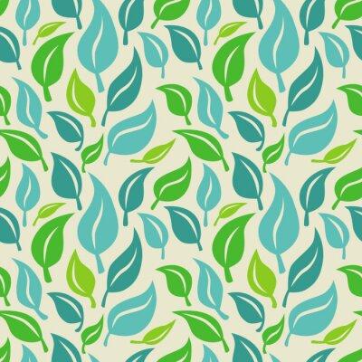 Papiers peints Vecteur de fond transparente avec des feuilles vertes et bleues