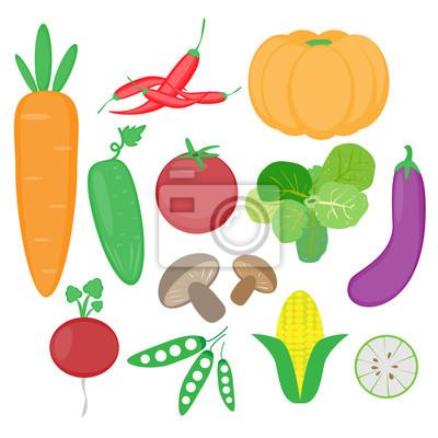 vecteur de légumes ensemble