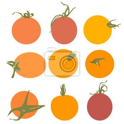 Vecteur de tomates fraîches