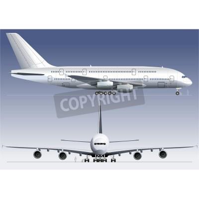 Papiers peints Vecteur double-pont A380 Jetliner lagest