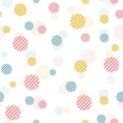 Papiers peints Vecteur, doux, vendange, seamless, modèle, à, coloré, points