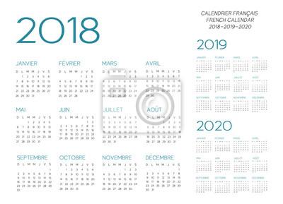 Calendrier Francais 2019.Papiers Peints Vecteur Du Calendrier Francais 2018 2019 2020