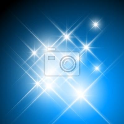 Papiers peints Vecteur étoiles scintillantes sur fond bleu foncé