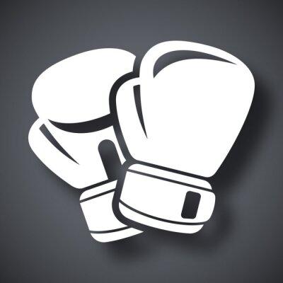 Papiers peints Vecteur gants de boxe icône