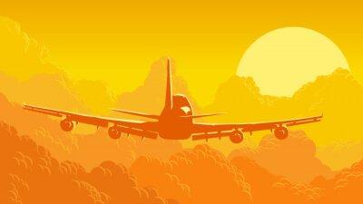 Papiers peints Vecteur, Illustration, ciel, nuages, voler, avion