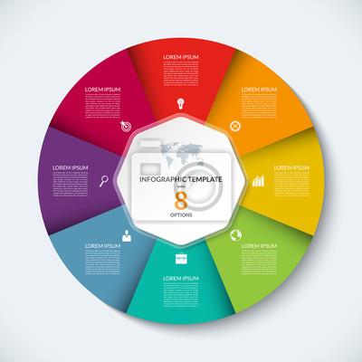 Papiers Peints Vecteur Infographie Cercle Modèle Concept Daffaires Avec