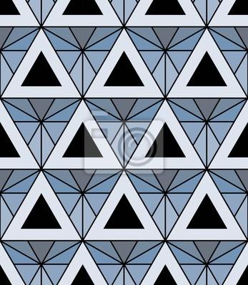 Vecteur Moderne Motif Colore Sans Soudure De Geometrie Bleu Papier