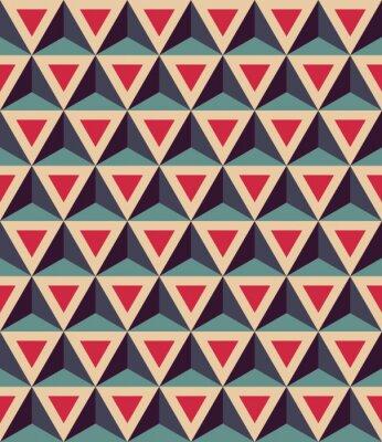 Papiers peints Vecteur moderne, seamless, coloré, géométrie, modèle, 3D, triangles, couleur, rouges, bleu, résumé, géométrique, fond, trendy, multicolore,