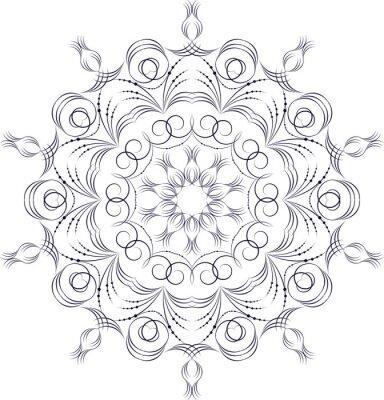 Papiers peints Vecteur, monochrome, contour, mandala