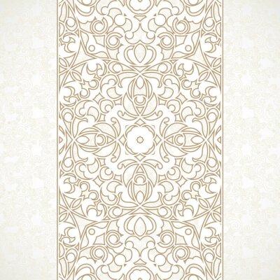 Papiers peints Vecteur orné frontière perméable au style oriental.