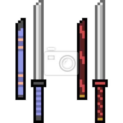 Papiers Peints Vecteur Pixel Art Arme épée
