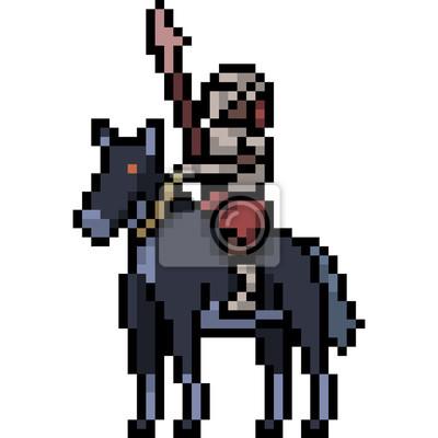 Pixel Art Chevalier Noir
