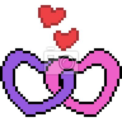 Dessin De Coeur En Pixel Art