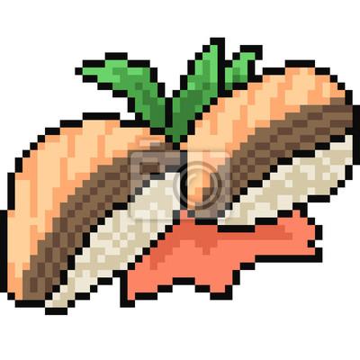 Papiers Peints Vecteur Pixel Art Nourriture Sushi