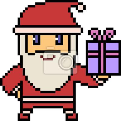 Papiers Peints Vecteur Pixel Art Père Noël
