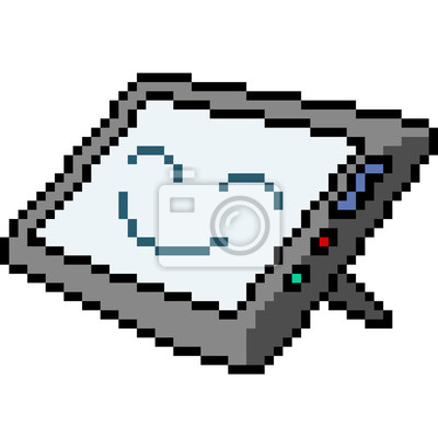 Papiers Peints Vecteur Pixel Art Tablette Sourire