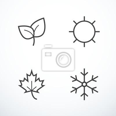 Papiers peints Vecteur, saison, icônes