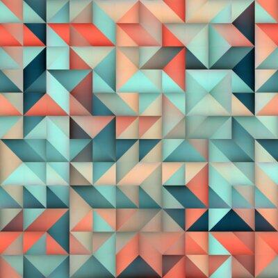 Papiers peints Vecteur, Seamless, bleu, rose, gradient, triangle, irrégulier, grille, carrée, modèle