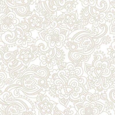 Papiers peints Vecteur, seamless, modèle, romantique, floral, fond