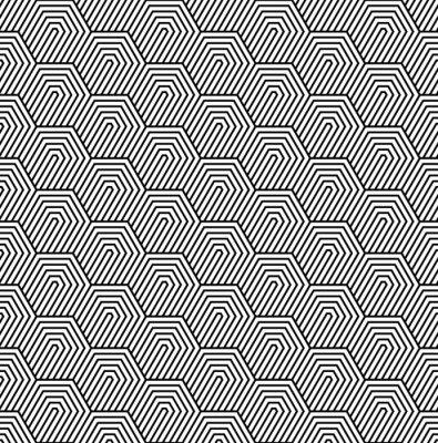 Papiers peints Vecteur, seamless, modèle. Texture élégante moderne. Motif géométrique monochrome avec carreaux hexagonaux.
