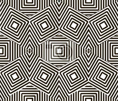 Papiers Peints Vecteur, Seamless, Noir, Blanc, Main, Peint, Cube,