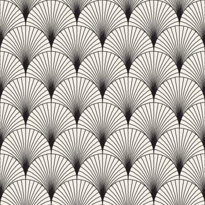 Vecteur Seamless Noir Et Blanc Sunburst Forme La Main Dessine Papier