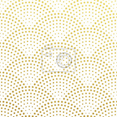 Vecteur transparente motif d'écailles dorées scintillantes ou de confettis de fontaine rétro design Gatsby avec des points scintillants or art déco sur blanc