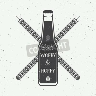 Papiers peints Vecteur, vendange, bière, logo, main, lettres, amusement, motivation, citation