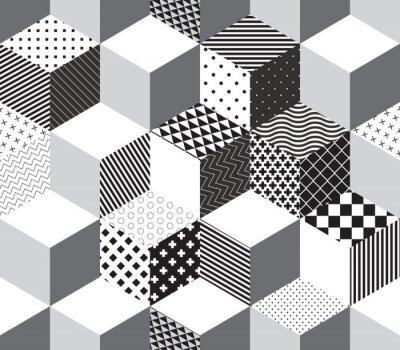 Papiers peints Vector 3d cubes motif