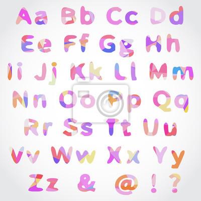 Vector Alphabet Set avec motif géométrique
