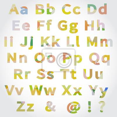 Vector Alphabet Set with geometrical pattern