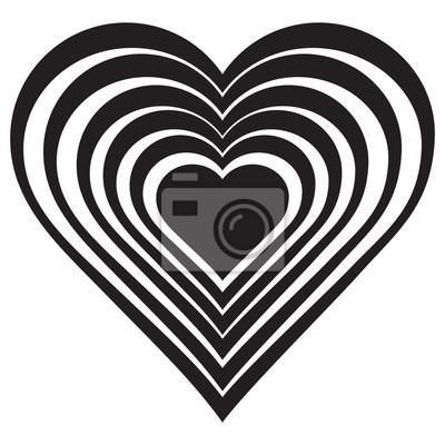 Papiers Peints Vector Illustration Du Coeur Noir Isolé Sur Fond Blanc Symbole