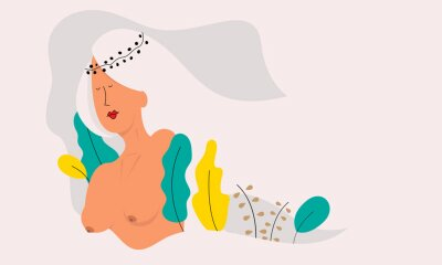 Papiers peints Vector illustration of a beautiful naked woman.