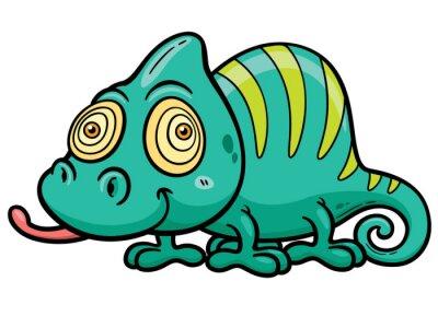 Papiers peints Vector illustration of Cartoon Chameleon
