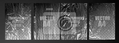 Papiers peints vector illustration. texture transparent stretched film polyethylene. vector design element graphic rumpled plastic warp