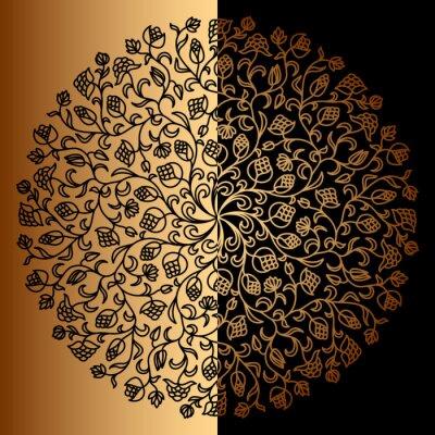 Papiers peints Vector or ornement.