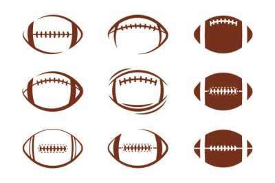 Papiers peints Vector pattern design oval ball in sports american football popular sport competition to find winner