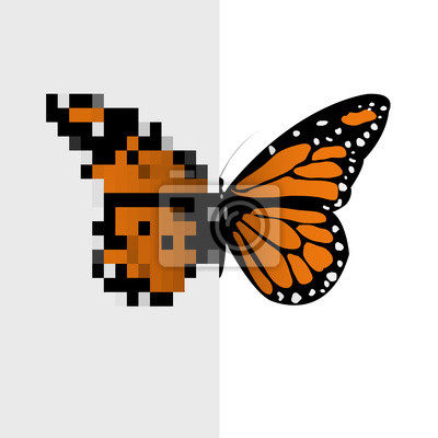 Papiers Peints Vector Pixel Art Papillon