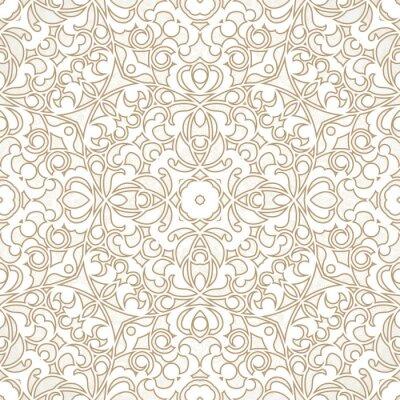 Papiers peints Vector seamless pattern dans le style oriental.