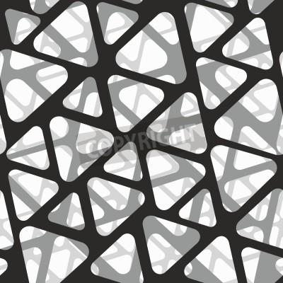 Papiers peints Vector seamless pattern. Texture moderne en maille 3d en maille.