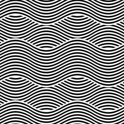 Papiers peints Vector texture sans couture. Fond géométrique moderne. Répétition du motif avec des lignes ondulées.