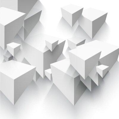 Papiers peints Vectorielle Abstract forme géométrique à partir de cubes gris.