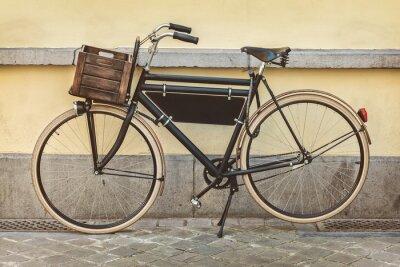 Papiers peints Vélo vintage avec caisse en bois