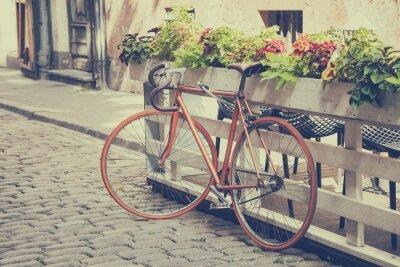 Papiers peints Vélos sur Old Street. Vintage stylisée.