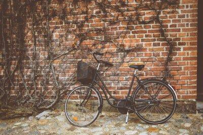Papiers peints Vendange, bicyclette, penchant, mur